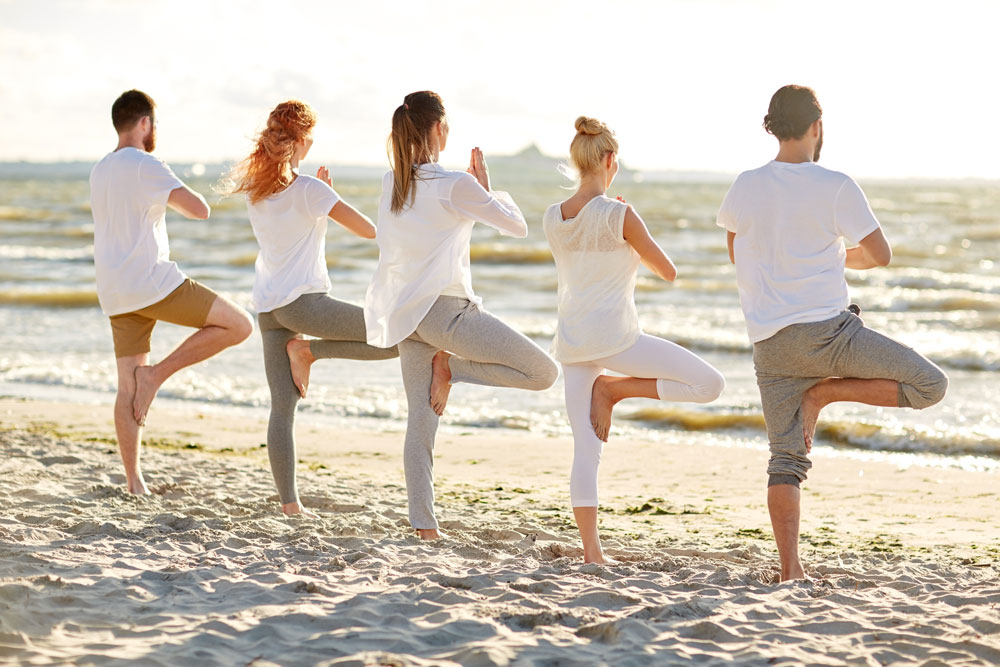 yoga on the beach Studland